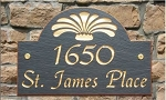 Slate Address Plaque Arch - Flair