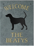 Welcome Dog Plaque Personalize