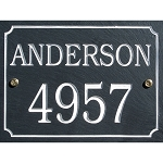 Slate Address Plaque 2 Line Rectangular