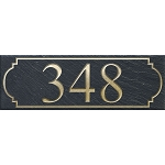 Slate Address Plaque Rectangle 4