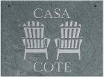 Adirondack Chairs Plaque Personalize