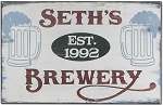 Wood Sign: Brewery