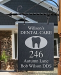 Sign for the Dental Profession with Tooth Symbol, Slate