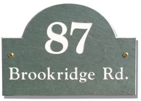 Arch Slate Address Plaque