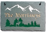 Mountain Moose Plaque Personalize