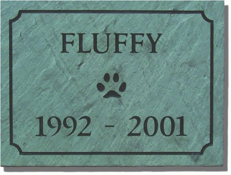 pet rock slate dog in memory of Pet memorial photo slate in memory of pet cat in memory off pet photo stone