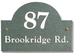 Slate Address Plaque Arch