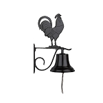 Bell with Rooster Ornament
