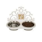 Monogram Wall Pet Bowl Feeder