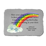 Have You A Dog Personalized Color Memorial Stone with Rainbow