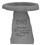 Forever Remembered Personalized Bird Bath