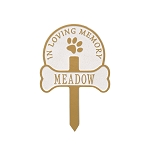 Paw and Bone Personalized Pet Memorial Yard Sign