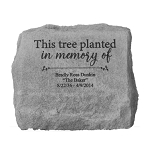 This Tree Planted Personalized Memorial Stone with Urn