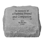 In Memory of Pet Personalized Memorial Stone with Urn