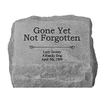 Gone Yet Not Forgotten Personalized Memorial Stone with Urn