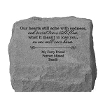 Our Hearts Still Ache Personalized Memorial Stone with Urn