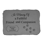 In Memory of Cat Personalized Fused Glass Memorial