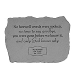 No Farewell Words Personalized Fused Glass Memorial