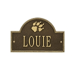 Dog Paw Arch Mini 1-Line Personalized Wall Plaque