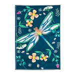 Dragonfly Garden Linen House Flag (28 in. x 44 in.)