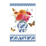 Chinoiserie Garden Satin House Flag (29 in. x 43 in.)