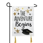 Graduation Adventure Burlap Garden Flag (12-1/2 in. x 18 in.)