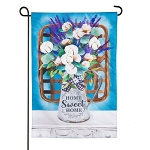 Cotton Bouquet Linen Garden Flag (12-1/2 in. x 18 in.)