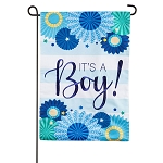 It's a Boy Linen Garden Flag (12 in. x 18 in.)