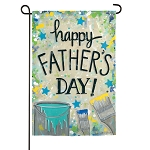Happy Fathers Day Dropcloth Suede Garden Flag (12 in. x 18 in.)