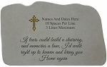 Personalized Memorial Stone With Cross - If Tears Could Build