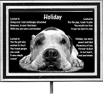 Pet Memorial Plaque with Stake