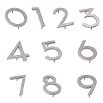 Brushed Aluminum Modern Individual House Numbers