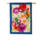 Summer Floral House Flag (28 in. x 40 in.)
