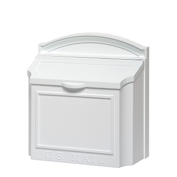 Whitehall Wall Locking Mailbox White