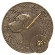 Labrador Clock and Thermometer French Bronze
