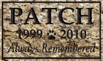 Granite Pet Memorial Three Line