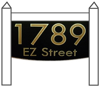 Illuminated Address Plaque, Lawn, Modern 8x12