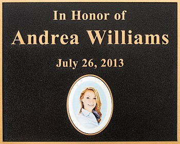 Bronze Plaque with Ceramic Insert