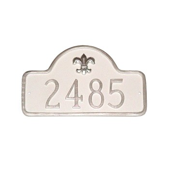 Lexington Fleur de Lis Address Plaque Petite
