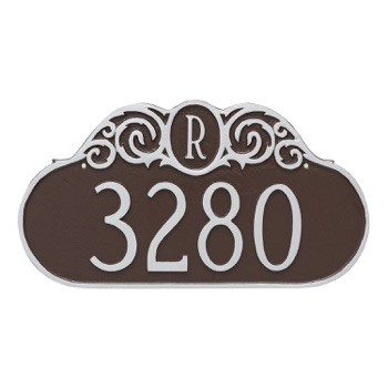 Decorative Monogram Wall Address Plaque
