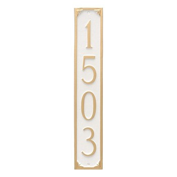 Lily Vertical Address Plaque