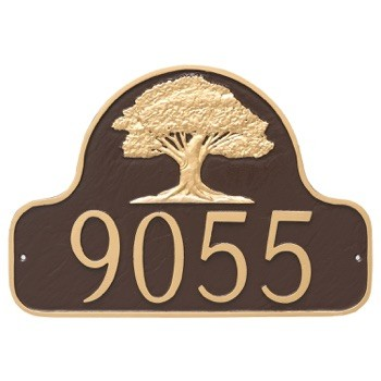 Oak Tree Arch Address Plaque Wall