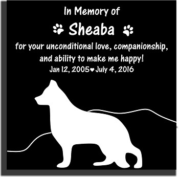 Pet Memorial Stone with Silhouette, Love