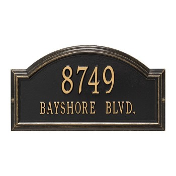 Providence Arch Address Plaque Wall 2 line