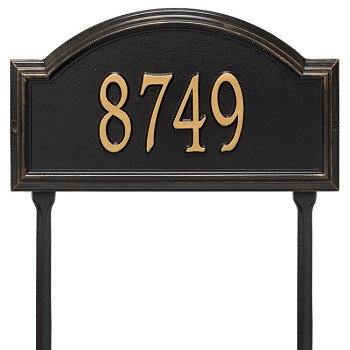 Providence Arch 1 Line Lawn Address Plaque