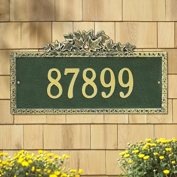 Ivy Address Plaque Wall 1 Line
