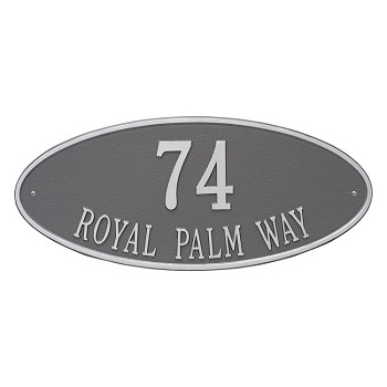 Madison Oval 2 Line Estate Wall Address Plaque