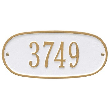 Oval Address Plaque 12 Inches