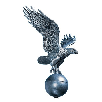 Flag Pole Eagle Medium Size Pewter