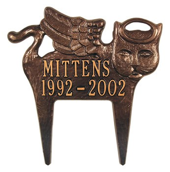 Cat Memorial Plaque, Angel